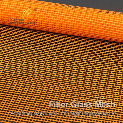 orange fiberglass mesh / fiberglass wire mesh / fiberglass cloth, China Professional factory